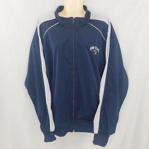 Penn State Nittany Blue Football Zip-Up Jacket 2XL